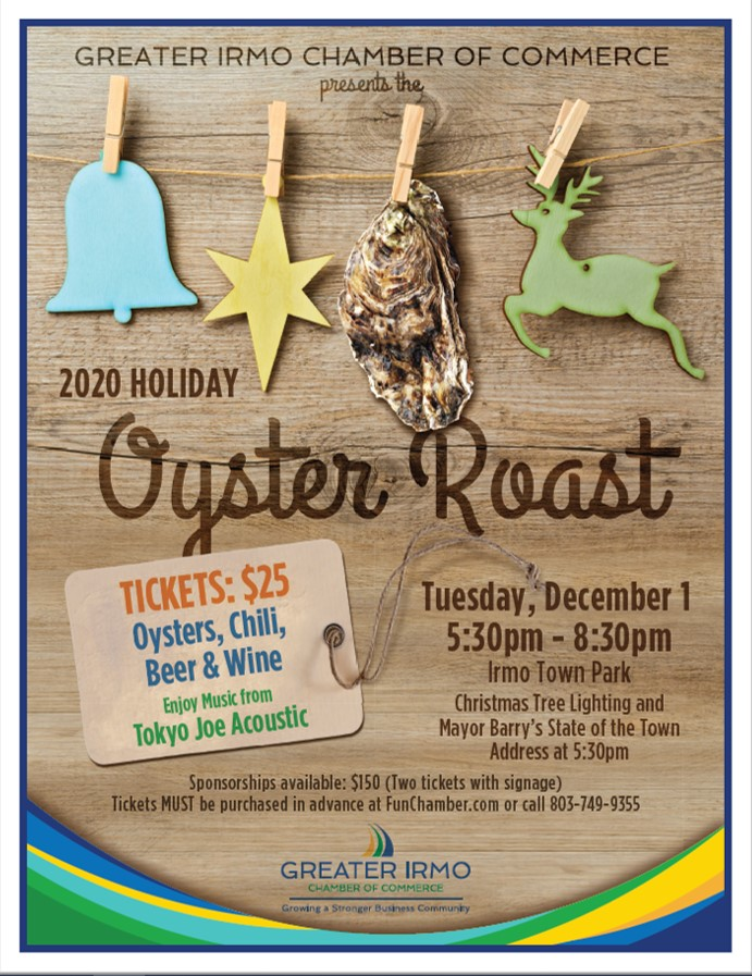 Irmo Christmas Tree Lighting & Holiday Oyster Roast @ Irmo Town Park
